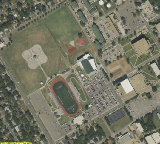 Erath County, TX aerial photography detail