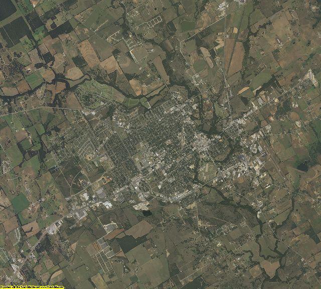Erath County, Texas aerial photography