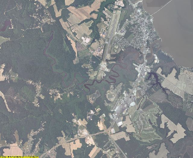 Essex County, Virginia aerial photography