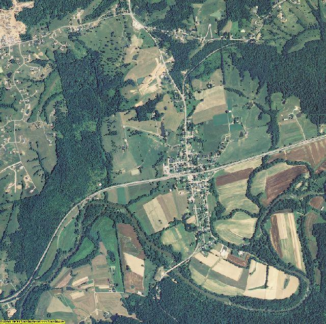 Gallatin County, Kentucky aerial photography