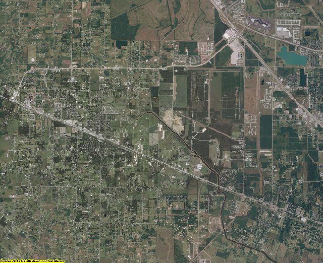 Galveston County, Texas aerial photography