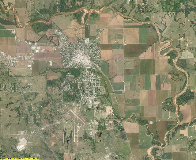 Garvin County, Oklahoma aerial photography