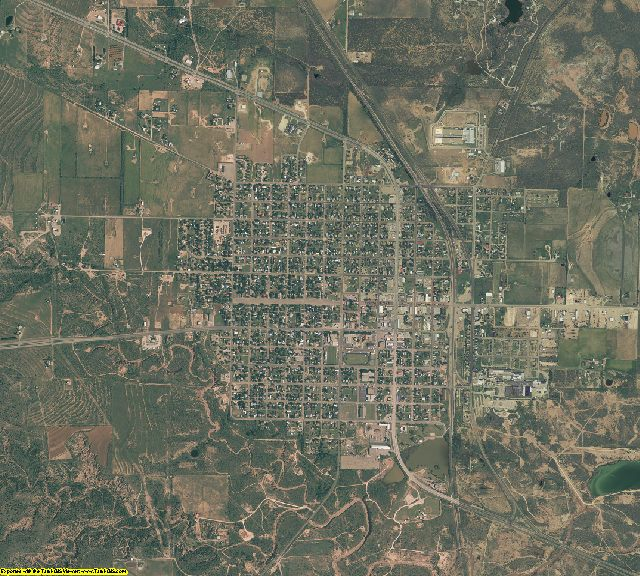 Garza County, Texas aerial photography