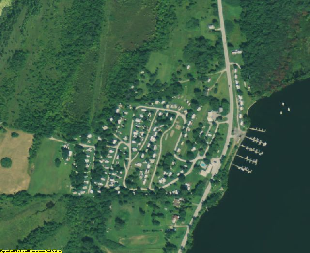 Grand Isle County, VT aerial photography detail