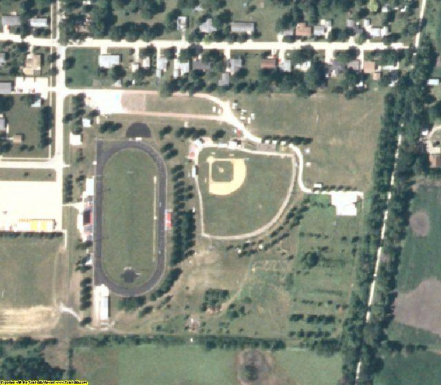 Greene County, IA aerial photography detail