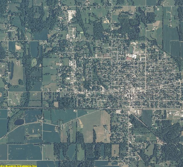 Greene County, Indiana aerial photography