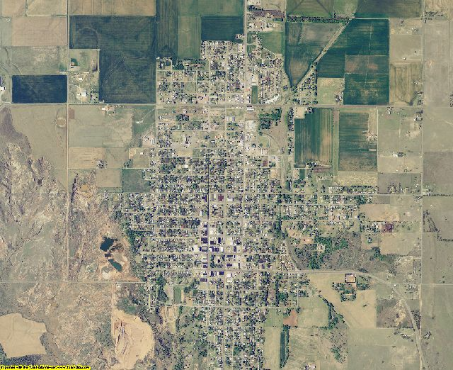 Greer County, Oklahoma aerial photography