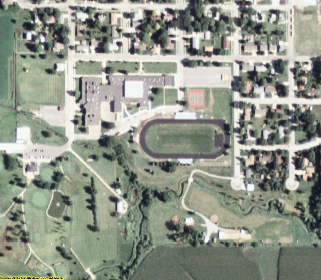 Grundy County, IA aerial photography detail