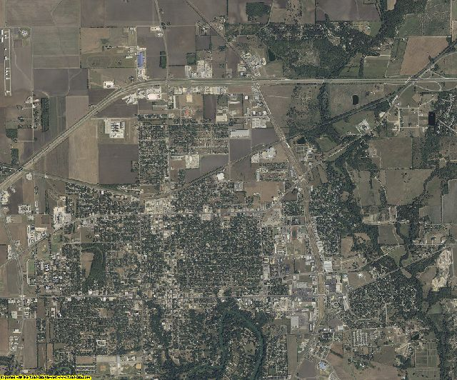 Guadalupe County, Texas aerial photography