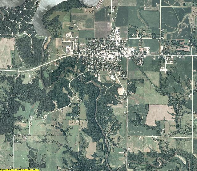 Guthrie County, Iowa aerial photography