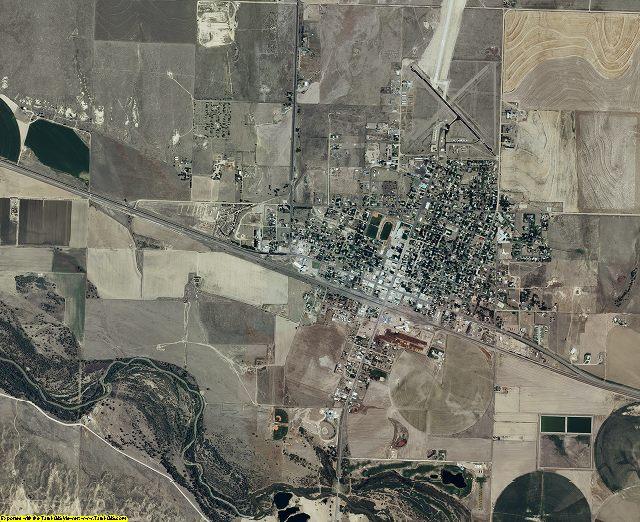Hamilton County, Kansas aerial photography