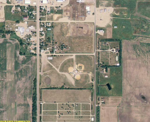 Hand County, SD aerial photography detail