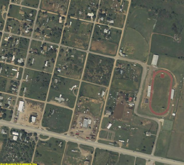 Hardeman County, TX aerial photography detail