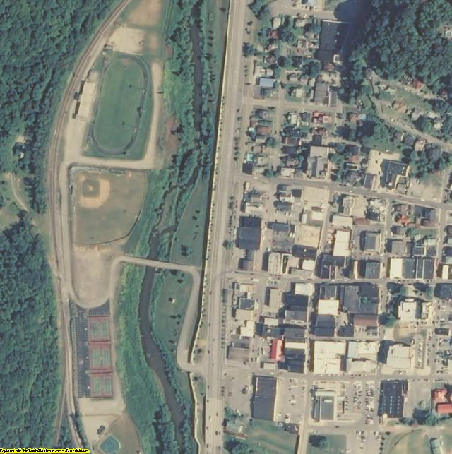 Harlan County, KY aerial photography detail