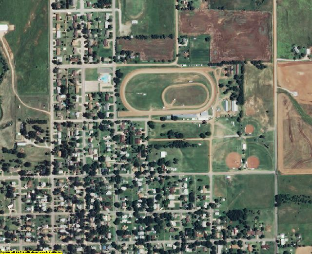 Harper County, KS aerial photography detail