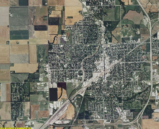 Harvey County, Kansas aerial photography