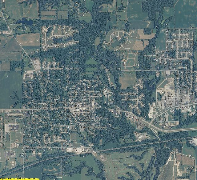 Hendricks County, Indiana aerial photography