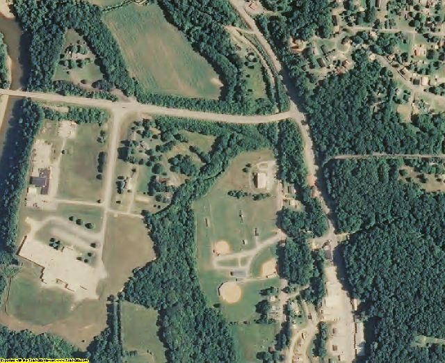 Hickman County, TN aerial photography detail