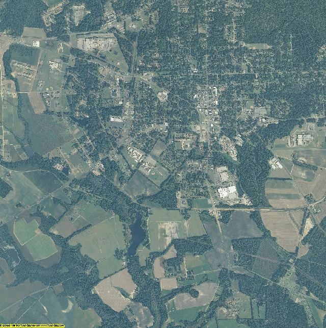 Hoke County, North Carolina aerial photography