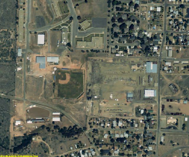 Hutchinson County, TX aerial photography detail