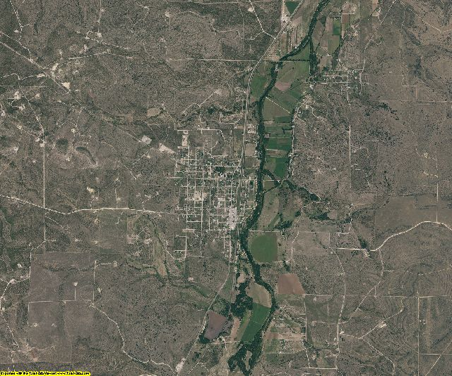 Irion County, Texas aerial photography
