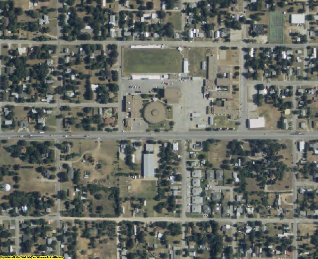 Jack County, TX aerial photography detail