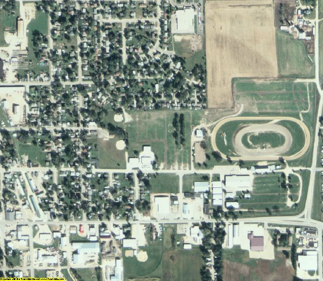 Jackson County, IA aerial photography detail