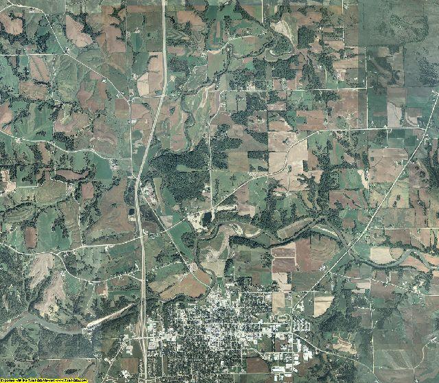 Jackson County, Iowa aerial photography