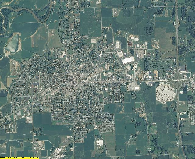 Jackson County, Indiana aerial photography