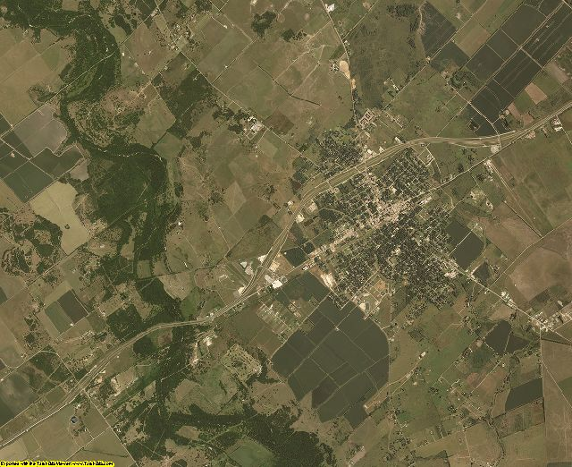 Jackson County, Texas aerial photography