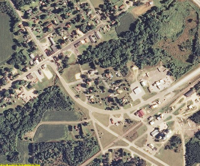 Jackson County, WI aerial photography detail