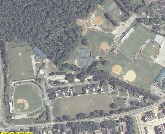 James City County, VA aerial photography detail