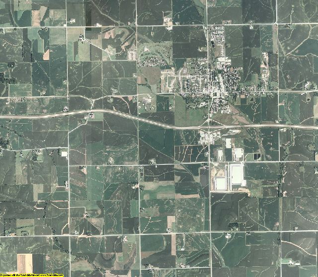 Johnson County, Iowa aerial photography