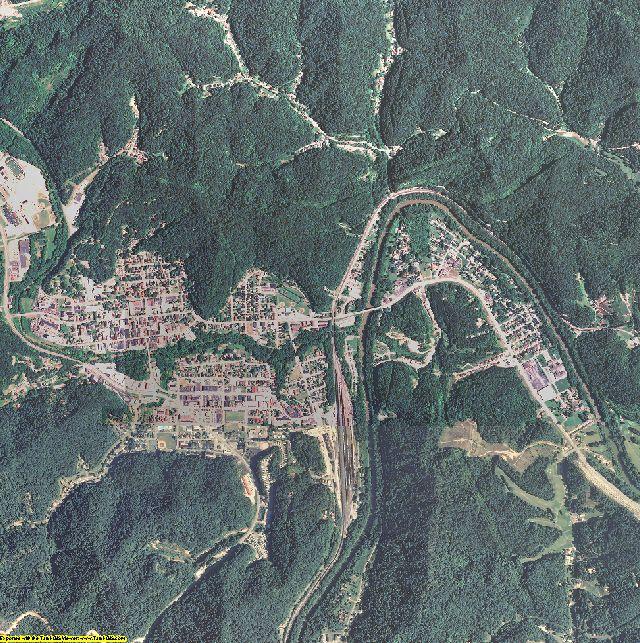 Johnson County, Kentucky aerial photography