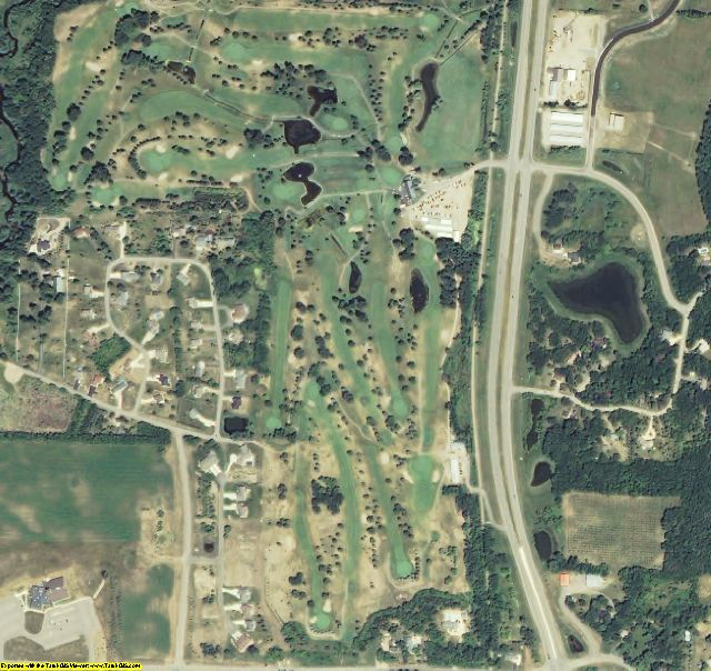 Kandiyohi County, MN aerial photography detail