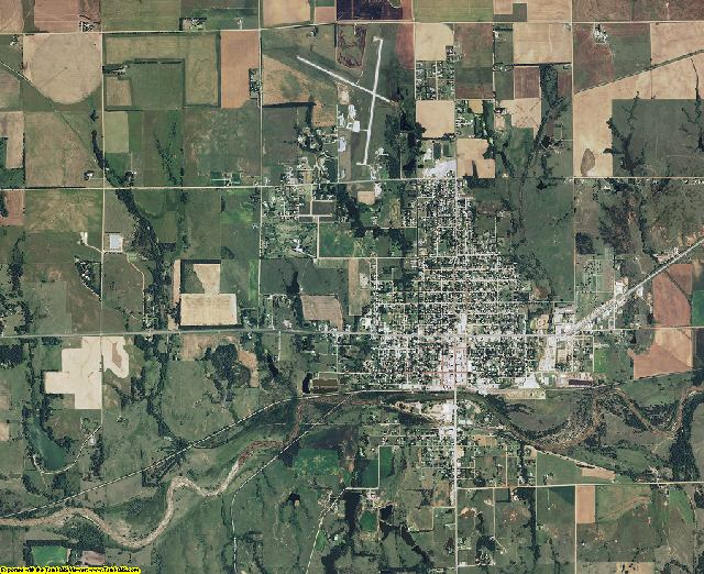 Kingman County, Kansas aerial photography