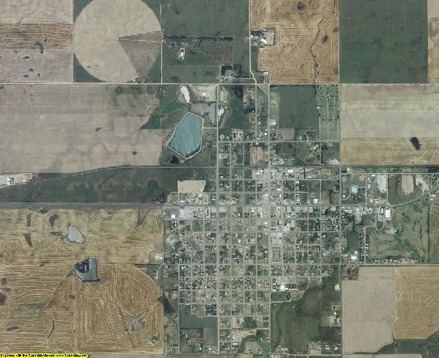 Kiowa County, Kansas aerial photography