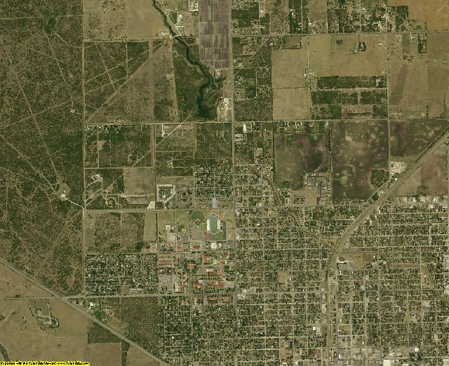 Kleberg County, Texas aerial photography