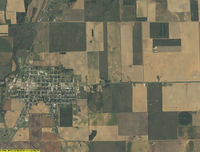 Knox County, Texas aerial photography