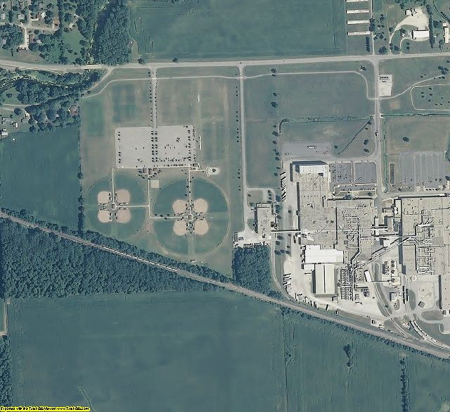 Kosciusko County, IN aerial photography detail