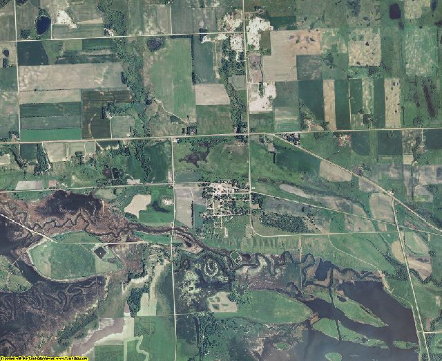 Lac qui Parle County, Minnesota aerial photography