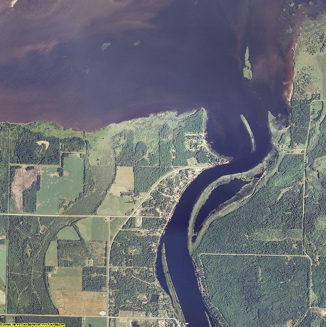 Lake of the Woods County, Minnesota aerial photography