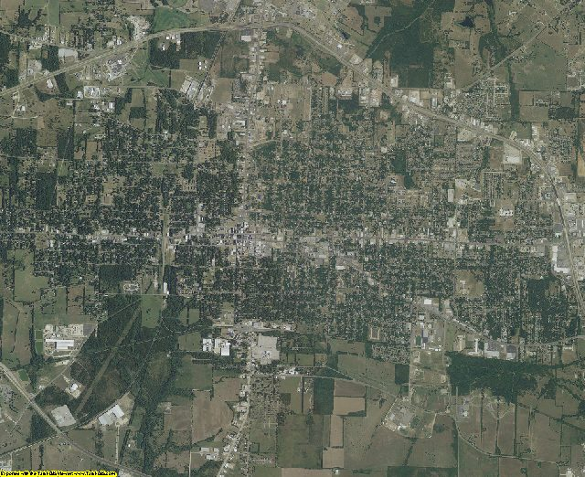 Lamar County, Texas aerial photography