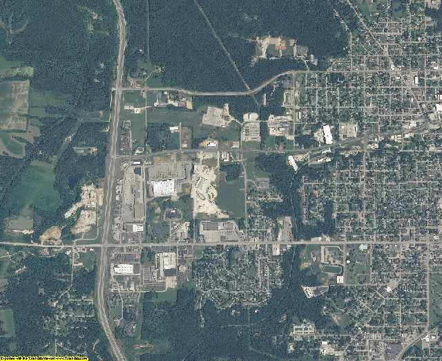 Lawrence County, Indiana aerial photography