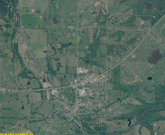 Le Flore County, Oklahoma aerial photography