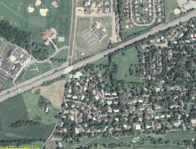 Lehigh County, PA aerial photography detail