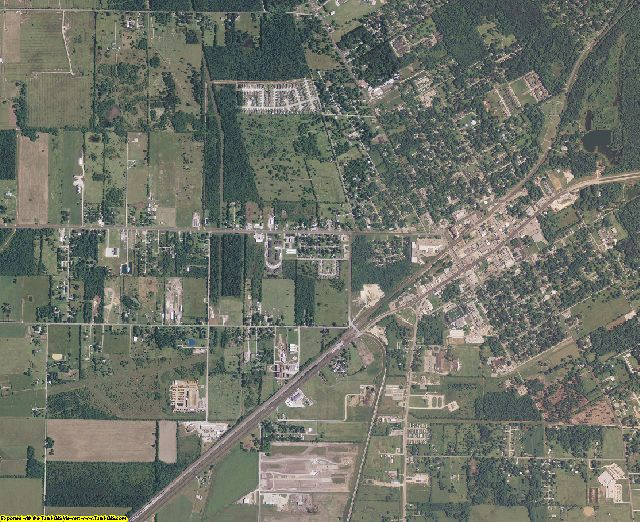 Liberty County, Texas aerial photography