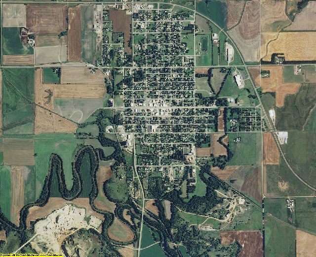 Lincoln County, Kansas aerial photography