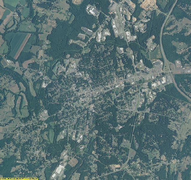 Lincoln County, North Carolina aerial photography