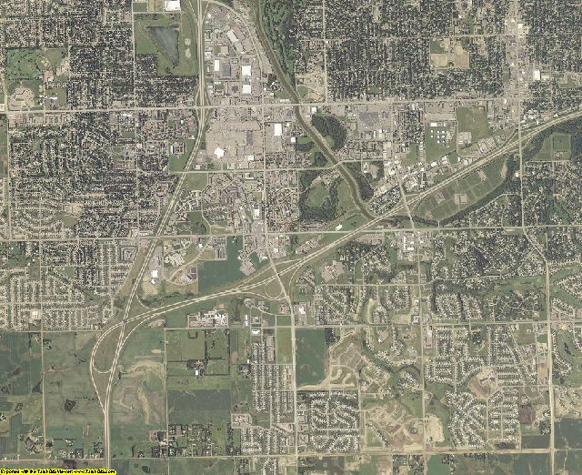 Lincoln County, South Dakota aerial photography